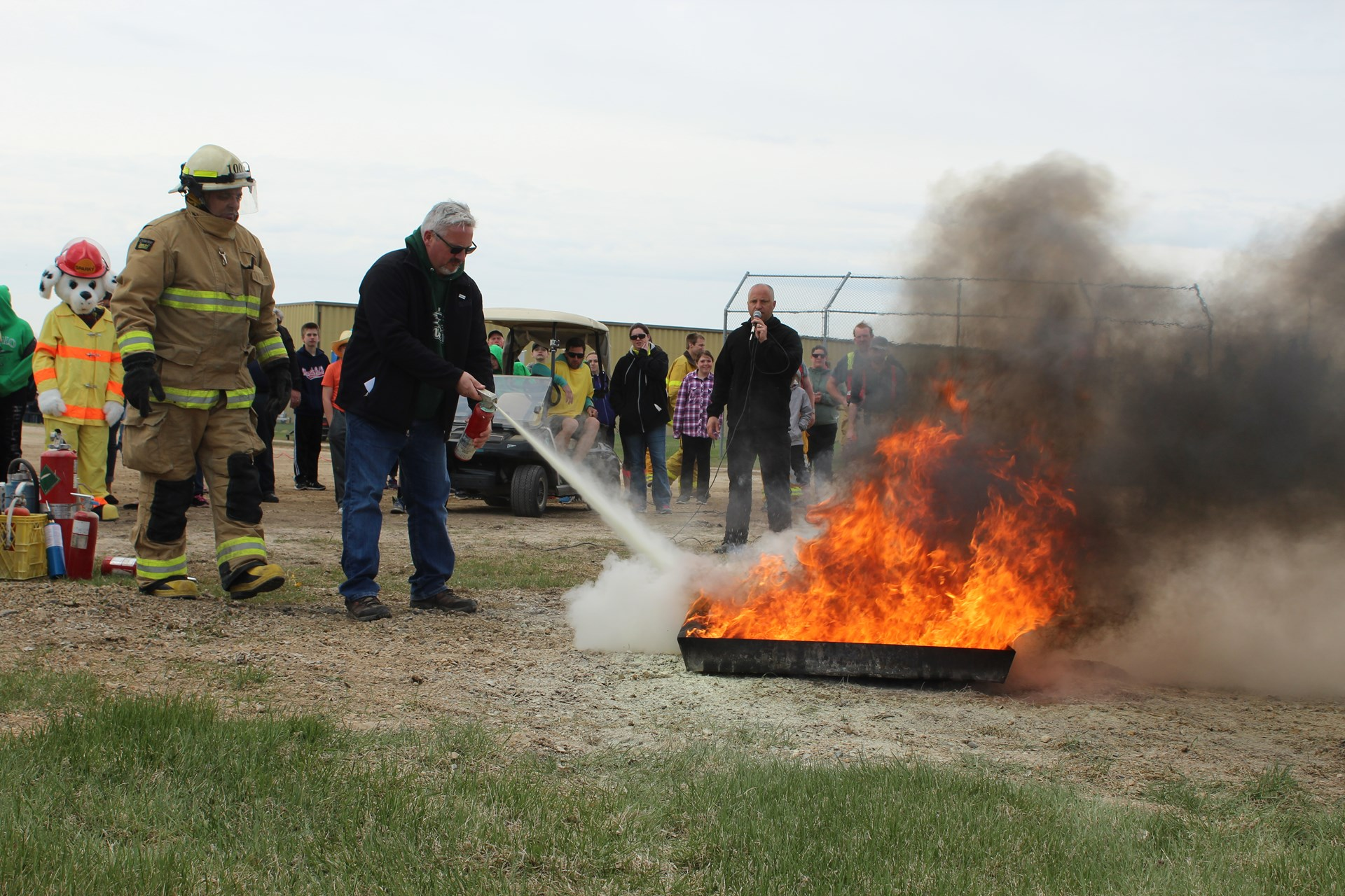 Fire extinguisher demo at Watson School.JPG
