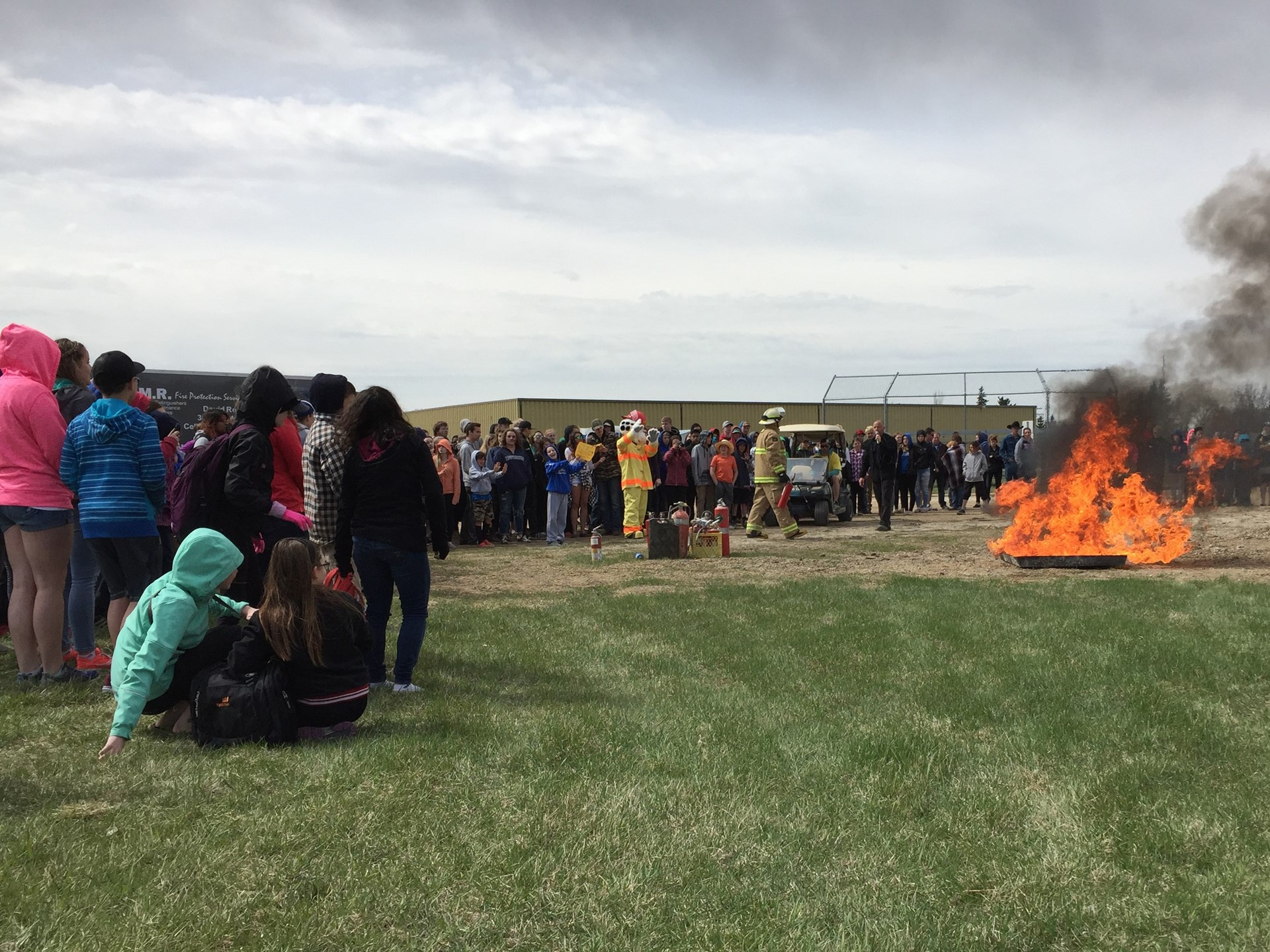 Fire extinguisher demonstration at Watson School.jpg