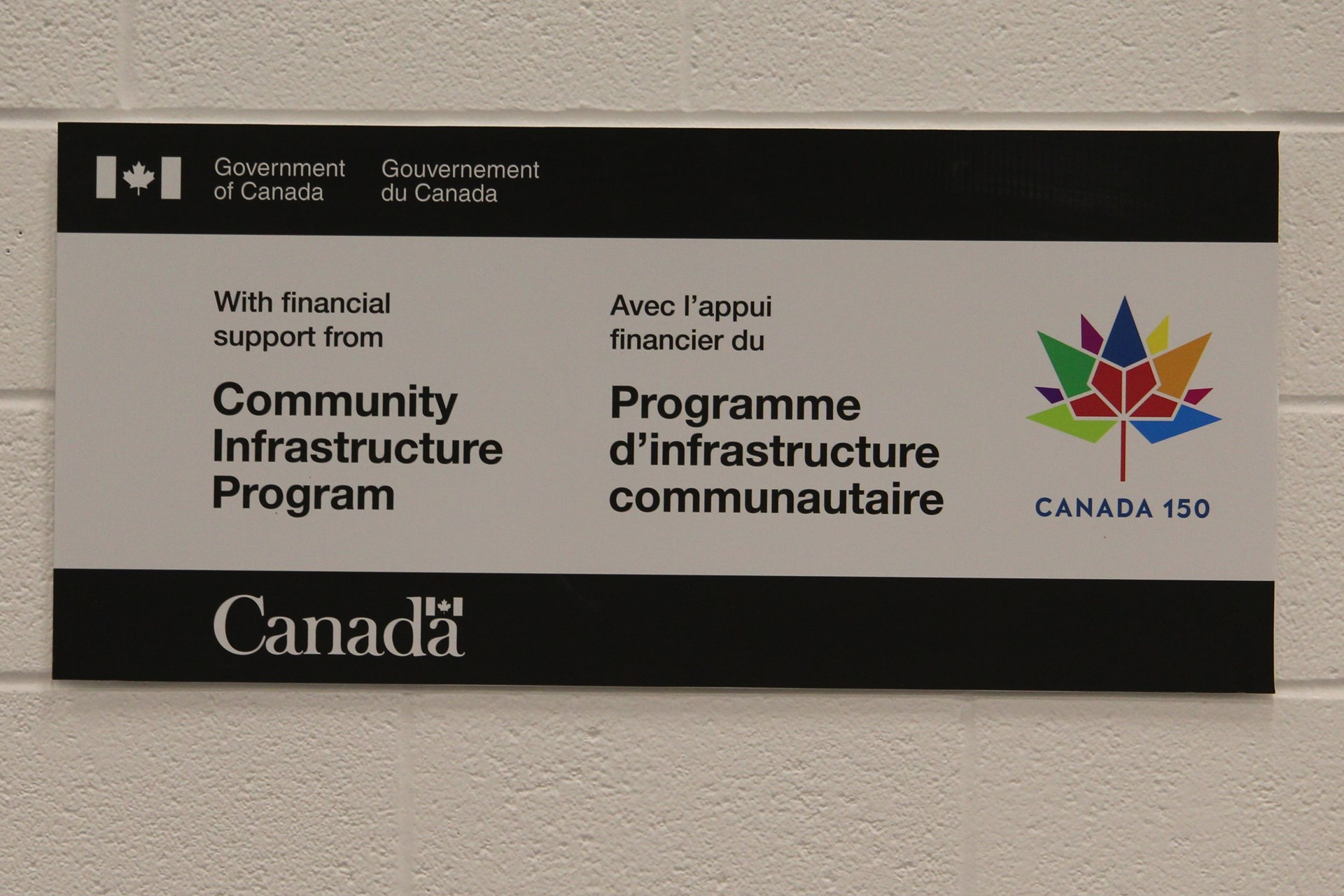 Government of Canada signage at PCHS event.JPG