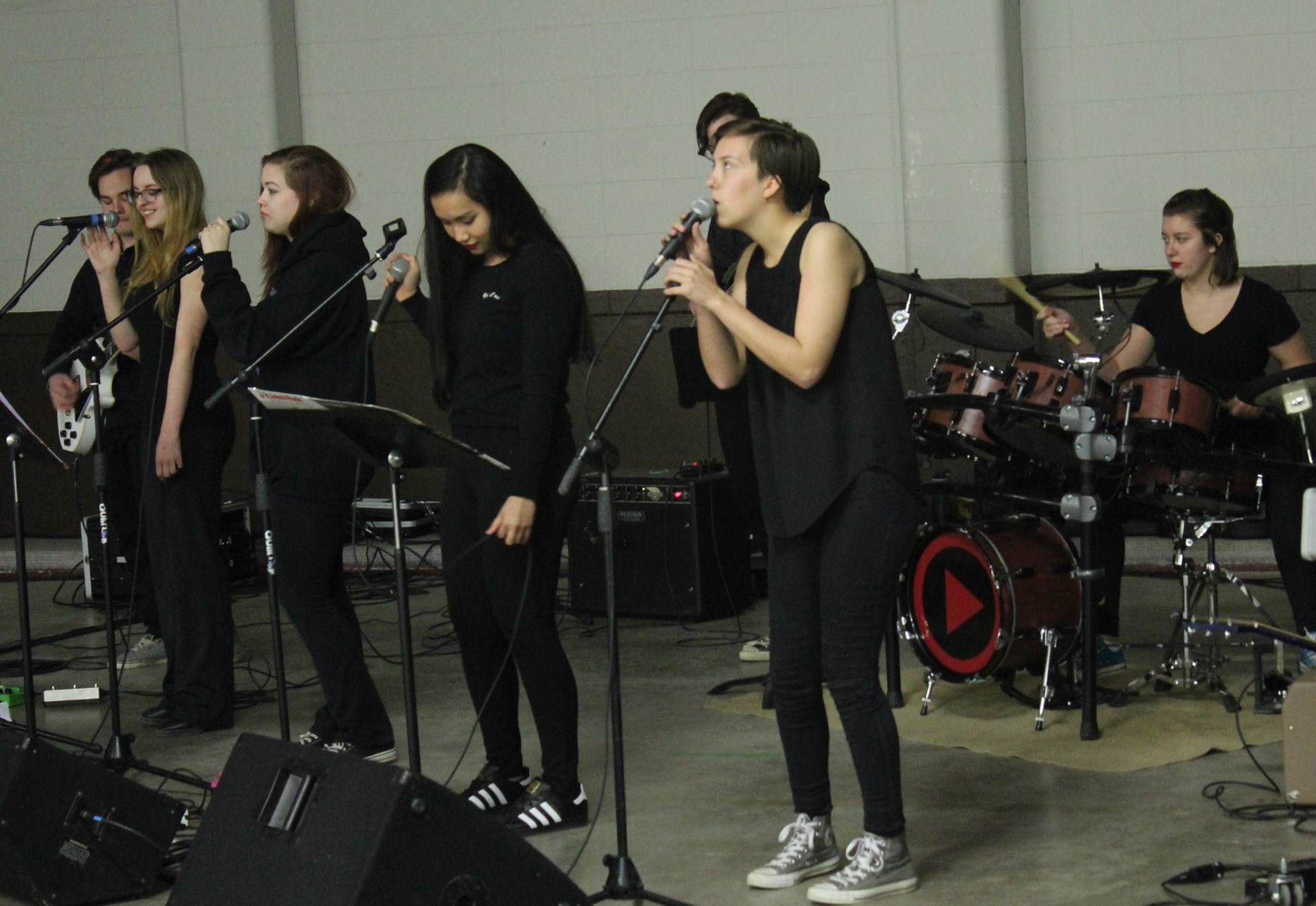 Winston High Garage Band at Student Day.JPG